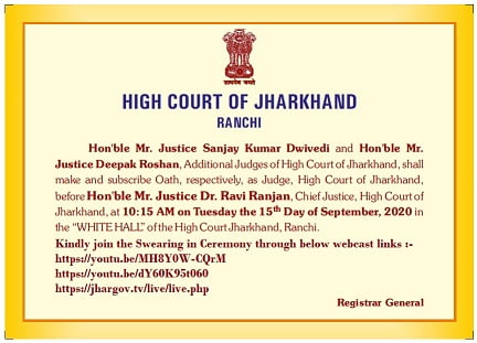 oath ceremony in jharkhand high court