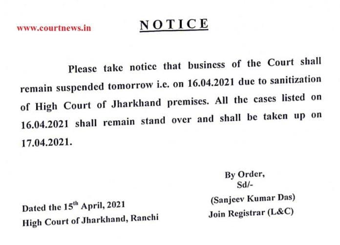 Corona High court notice