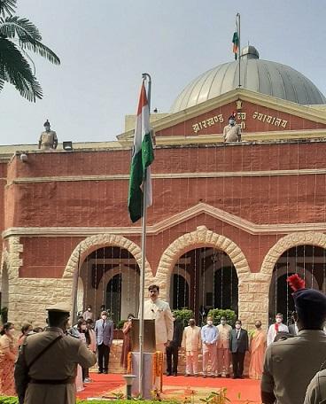 flag hosting by chief justice Dr Ravi Ranjan